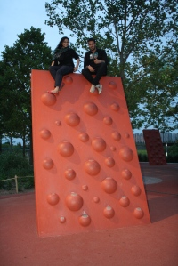 Scaling the heights in an East End play park